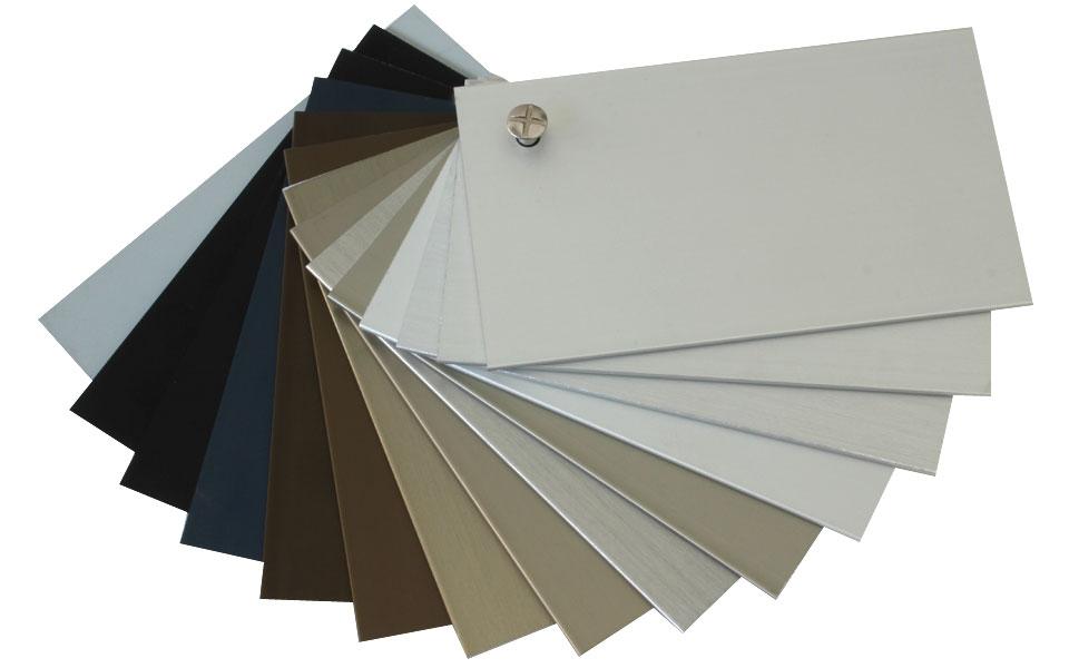Gama de colores para los sistemas en carpinter a de for Colores de aluminio para ventanas